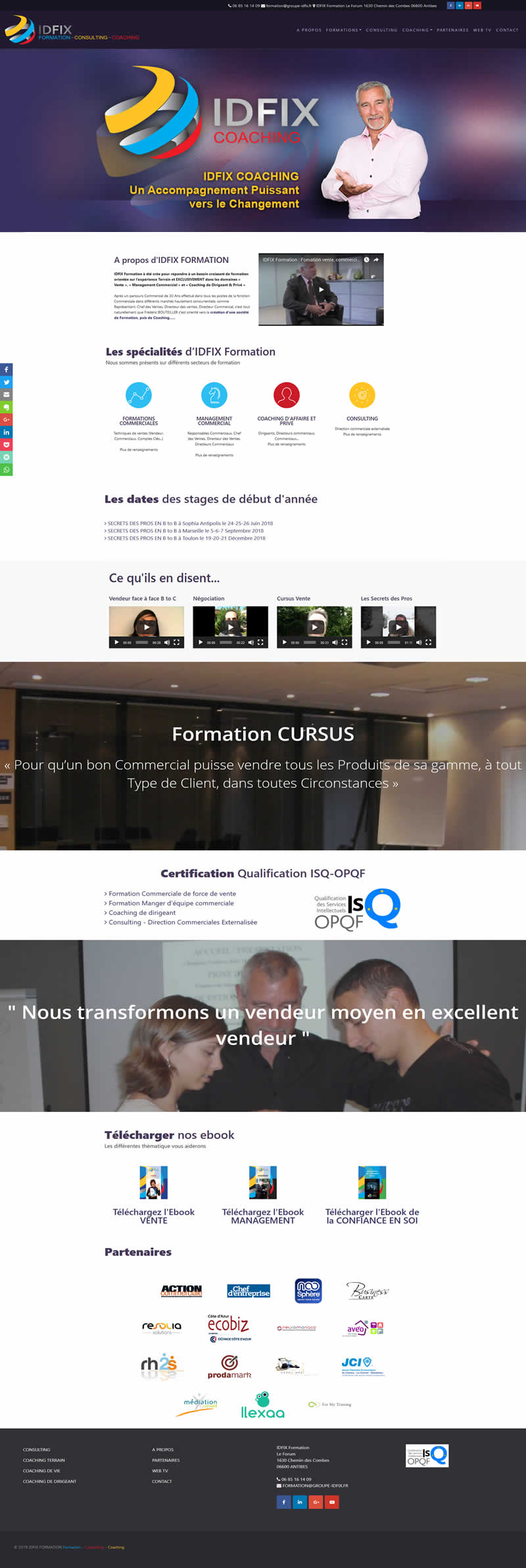 Site internet IDFIX FORMATION