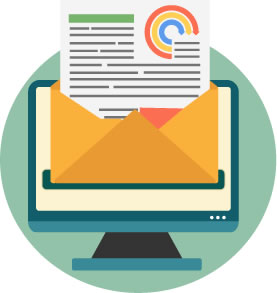 Illustration de la création et la gestion d'une campagne d'emailing