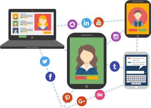 Illustration de la stratégie et de la gestion des réseaux sociaux