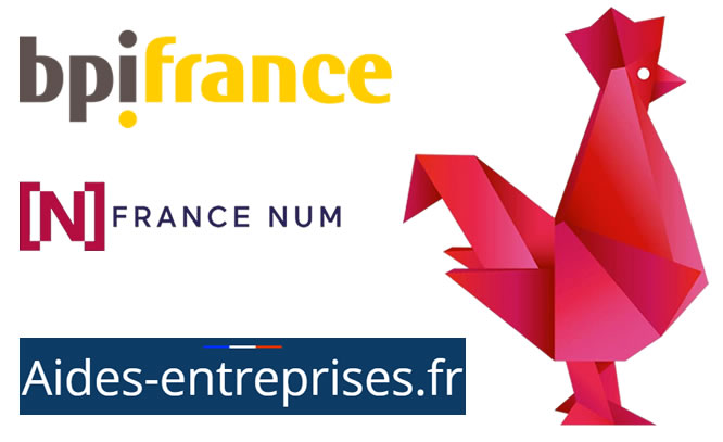 Financement institutionnel : BpiFrance, France Num, Aides-entreprises.fr, French Tech